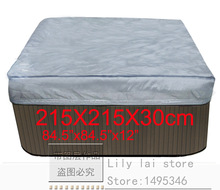 "hot tub cover cap prevent snow, rain and dust, 215x215x300 mm84.6"" x 84.6"". x 12 in.) ,can customize spa, swim spa cover bag(China)"