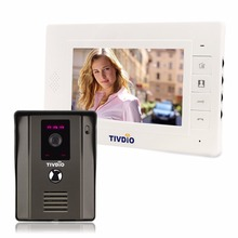 "TIVDIO 7"" Color Video Door Phone Video Intercom Door Intercom IR Night Vision Camera Doorbell Kit Video for Home Apartment F9504"