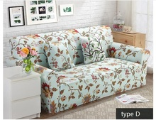 Modern simple printing   floral  for four seasons anti-skid  Sofa  slipcover couch cove 1 piece price 10 colours free ship