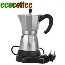 Electric heating mocha pot fully-automatic aluminum coffee machine lounged electric coffee pot coffee 220V Europlug(China)