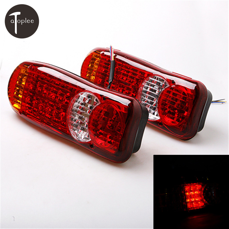 2Pcs 24V Automobiles Car Truck LED Stop Rear Tail Indicator Fog Lights Reverse Van For Stop/Tail/Everse/Fog Light<br>