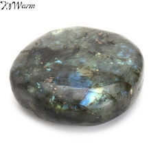 KiWarm 1PC Large Tumbled Stone Labradorite Quartz Crystal Healing Mineral Rock Specimens Paperweight Craft for Home Decor Crafts(China)