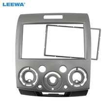 LEEWA Silver Double Din Stereo Panel for Ford Everest Ranger Mazda BT 50 Facia Radio Dash Mount Installation Trim Kit #CA1677(China)