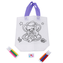 Kid DIY Drawing Craft Color Bag Children Learning Educational Drawing Toys with Safe Non-toxic Water Pen for Boy and Girl Gifts(China)