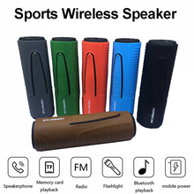 Bluetooth Bicycle Speaker Outdoor Wireless Portable Column Sound Bar with Flashlight Power Bank FM USB/TF MP3 Music Player P3