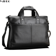 men leather briefcase brand business bag vintage men messenger bags handbags black men crossbody bags men shoulder Laptop bag