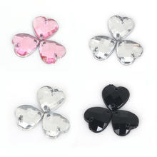 Sewing Crystal AB love Heart Rhinestone Applique Sew On Flatback Crystals Stones Acrylic Strass For DIY Dress