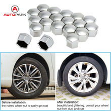 Universal 17mm Car Style Wheel Chrome Plastic Nut Cover Bolt Caps for Cars