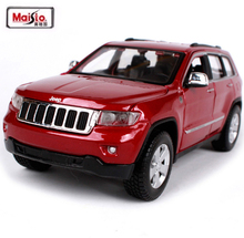 Maisto 1:24 Jeep Grand Cherokee SUV Die cast Alloy Metal Car Model For Kids Toys Christmas Gift Collection Free Shipping