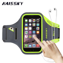 HAISSKY Sport Running Arm Band Case Wallet Cover For iPhone 6 6s 7 Plus 8 Samsung Galaxy S7 Edge S8 Xiaomi mi5 Huawei P10 Plus