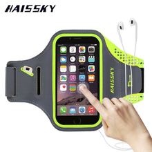 HAISSKY Sport Running Arm Band Case Wallet Cover For iPhone 6 6s 7 Plus 8 Samsung Galaxy S7 Edge S8 Xiaomi mi5 Huawei P10 Plus(China)