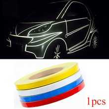 Car Sticker 1cm*5m Reflective Tape Sheeting Film Automotive Body Motorcycle Decoration Waterproof Auto Motor Color Strip Styling(China)