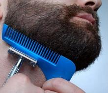Hot sell plastic beard comb beard shaper for beard styling comb as facial hair shaping tool AS SEEN ON TV