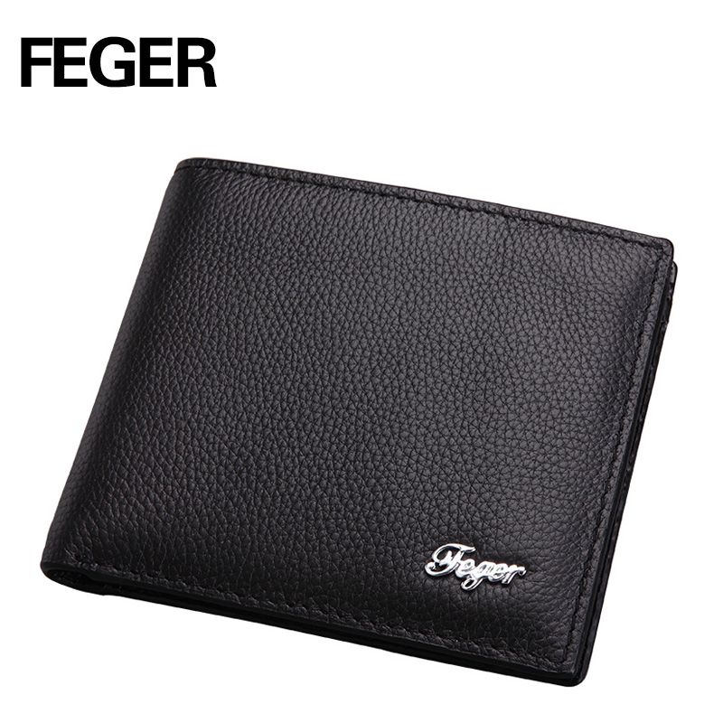 FEGER New Arrival Soft Leather Men Wallets Business Leisure 2 Folds Credit Card Holder Wallet Free Shipping<br><br>Aliexpress