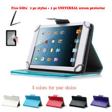 "For PiPO S3 Pro/S1 Pro 7"" Inch Universal Tablet PU Leather cover case Free Gift(China)"