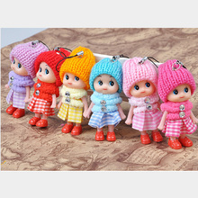 Cute Mobile Phone Accessories Lattice Clown Confused Doll Phone Pendant Creative Gifts Color Randomly