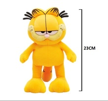 Free Shipping!23cm Plush Garfield Cat Plush Stuffed Toy High Quality Soft Plush Figure Doll(China)