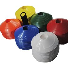 Soft Disc Football Training Sign Dish Pressure Resistant Cones Marker Discs Marker Bucket PVC 50pcs/Set Sports Accessories