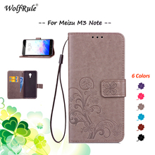 WolfRule For Cover Meizu M3 Note Case Meizu M3 Note Cover Flip PU Leather Wallet Handbag Mobile Phone Cases For Meizu M3 Note #(China)