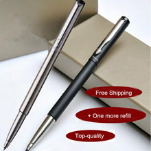 Free Shipping $4.5 FOR 3 PIECES 2017 FINAL PROMOTION Roller Ball Pen Business Pens Top Quality Stationery Gel Pen School(China)