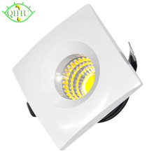 LED Dimmable Recessed Down Lights 3W Spot Lamps Mini Downlights 110V 220V Cabinet Indoor Ceiling Display Jewelry Lighting