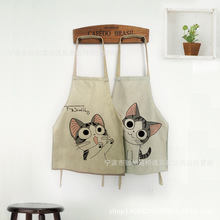 Lovely Cheese Cat Cooking Apron Antifouling Novelty BBQ Party Apron Naked Men Women Cat Cheeky Kitchen Cooking Sleeveless Apron