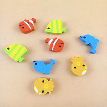 4 pcs/lot (1 bag) Creative Kawaii The Underwater World Rubber Eraser For Pencils Korean Stationery Free Shipping(China)