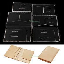 Passport 834 Templates card Clear Acrylic Leather Pattern Craft DIY Hobby Model(China)