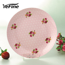 YeFine High Quality Bone China Ceramic Plate Kitchen Accessories Stylish Dessert Plates and Dishes 8 Inch Cake Dishes Porcelain