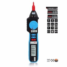 AMS8211D Pen type Digital Multimeter DC AC Voltage Current Meter Tester Continuity Diode Non-contact Voltage Logic Test