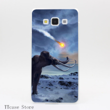 4027CA What killed all the Mammoths Transparent Hard Cover Case for Galaxy A3 A5 A7 A8 Note 2 3 4 5 J5 J7 Grand 2 & Prime