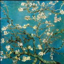 Almond Branches In Bloom-Vincent Van Gogh oil painting-Floral canvas wall art