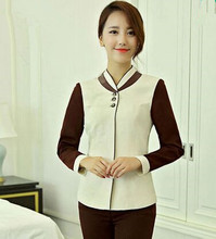 chinese hotel cleaner uniform for women autumn cleaner clothing long sleeve hotel staff uniform