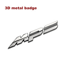 3D Metal Chrome MPS Zinc Alloy Emblem Badge Refitting Automobile Exterior Cool Advance Car Sticker Decal Car Styling for Mazda