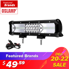 Oslamp 12inch 3-row 162W LED Light Bar Offroad Beam Combo Led Work Light Bar Driving Lamp Truck SUV ATV 4x4 4WD 12v 24v Led Bar(China)