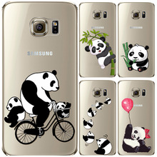 Funny Panda Case for Samsung Galaxy S6 S7 soft transparent Animals Cat Dog funda coque skin back shell
