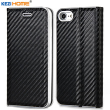 Case for 5 5s 6 6s 7 7 Plus Luxury Flip carbon fiber Leather Case capa For iphone 5 5s SE 6 6s Plus 7 Plus Wallet Cover coque