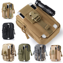 2017 Universal Outdoor Tactical Holster Military Molle Hip Waist Belt Bag Wallet Pouch Purse Phone Case with Zipper for iPhone 7