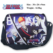 Bleach polyester shoulder bag/colorful printed Kurosaki Ichigo Kuchiki Rukia Hitsugaya Toushirou(China)