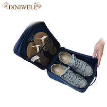 DINIWELL Nylon Waterproof Travel Shoe Storage Bag Outdoor Handle Mesh Pocket Shoes Organizer(China)