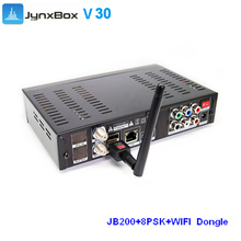 Satellite TV Receiver JYNXBOX ULTRA HD V30 WIFI and JB200/DVB-S2/ATSC Tuner free shipping to North America(China)