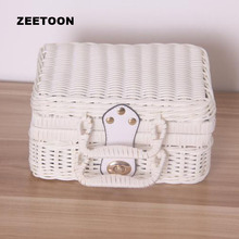 Color Handmade Rattan Weave Outdoor Travel Portable Storage Box for Kung Fu Tea Set Picnic Cosmetic Suitcase Toy Basket Hand Bag