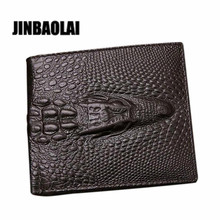 JINBAOLAI Brand European and American crocodile man wallet New arrival men Leather Credit/ID Card Holder Billfold Purse#D(China)