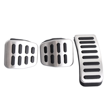 Stainless Car pedal Cover for Volkswagen Polo Bora Lavida Golf MK4 New Beetle Jetta Santana Clutch Gas Brake pedals Pads MT /AT