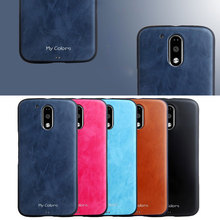 Simple Fashion original Cover For Motorola Moto G4 Play case Ultra-thin TPU Silicon PU Leather Cell Phone Back Cover shell