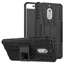 "For Nokia 6 5.5"" Case Heavy Duty Armor Shockproof Rugged Silicone Rubber Hard Back Phone Cover For Nokia 6 5.5 INCH"