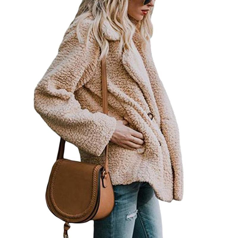 2018 Elegant Faux Fur Coat Women 2018 Autumn Winter Warm Soft Zipper Fur  Jacket Female Plush Overcoat Casual Outerwear Dropship  8d4e4fdfbb93