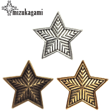 4pcs/lot 30MM Retro Zinc Alloy Bronze Pentagram Decorative Buttons Charms Pendants For DIY Accessories Free shipping(China)