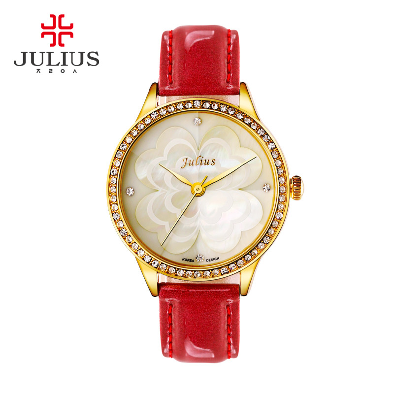 2017 New Fashion Women Wrist Watch Top Brand JULIUS Rose Gold Strap Luxury Design Quartz Watches Lady Dress Clock Reloj Mujer<br>