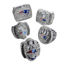 Sales Promotion 5Pcs/Lot Replica Super Bowl New England Patriots Sets (2001/2003/2004/2014/2017 )Championship Rings(China)